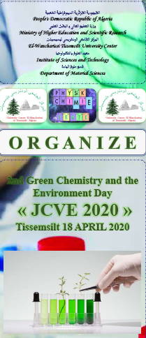 2nd Green Chemistry and the Environment Day « GCED2020 »